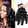 Iwish Волос Новый Год Дополнительных Продаж Перуанский Свободная Волна Человека волосы 4 Шт. Перуанский Девственные Волосы Свободная Волна Дешевых Человеческих Волос пучки