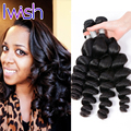 Iwish Hair New Year Extra Sales Peruvian Loose Wave Human Hair 4Pcs Peruvian Virgin Hair Loose Wave Cheap Human Hair Bundles