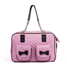 Luxury Pet cat small dog Travel pu leather Carrier bag portable puppy dog Chihuahua carrying tote bag handbag transporting box