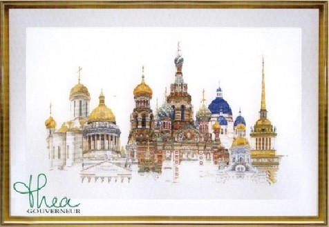 Gold Collection Counted Cross Stitch Kit St Petersburg St Peters burg Russia Famous City Series tg