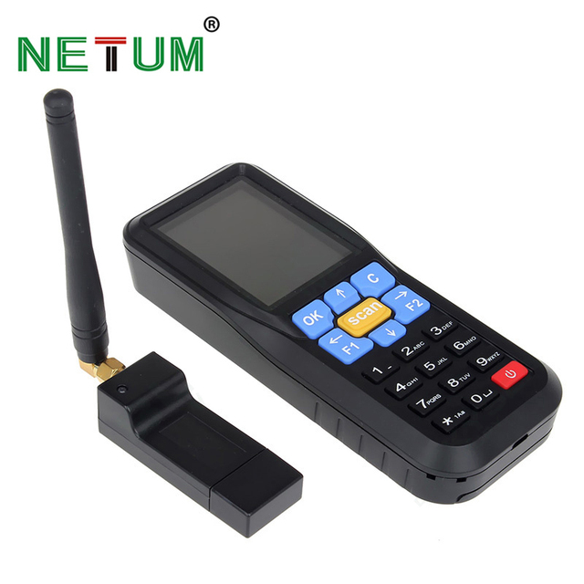 Best Price NT-C6 433MHz Wireless Data Collector Barcode Laser Reader Terminal Inventory Reader Bar Code for POS Terminal NETUM