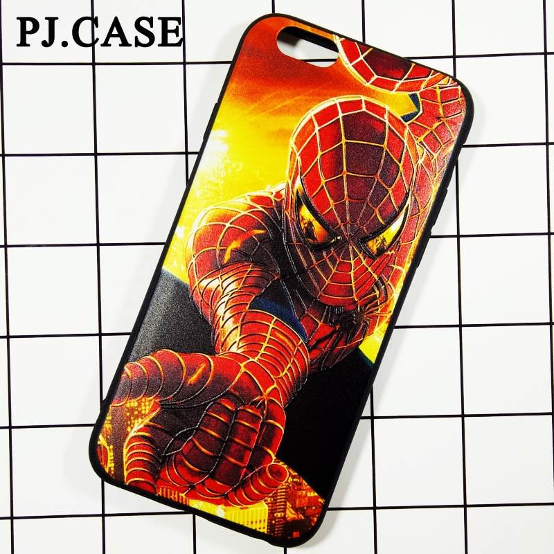 Hot Selling <font><b>Super</b></font> <font><b>Hero</b></font> <font><b>Spiderman</b></font> Phone <font><b>Case</b></font> <font><b>For</b></font> <font><b>iPhone</b></font> 6s Soft <font><b>TPU</b></font> <font><b>Cover</b></font> Capa Funda Coque Etui <font><b>For</b></font> <font><b>iPhone</b></font> 6 Plus Emboss <font><b>Case</b></font>