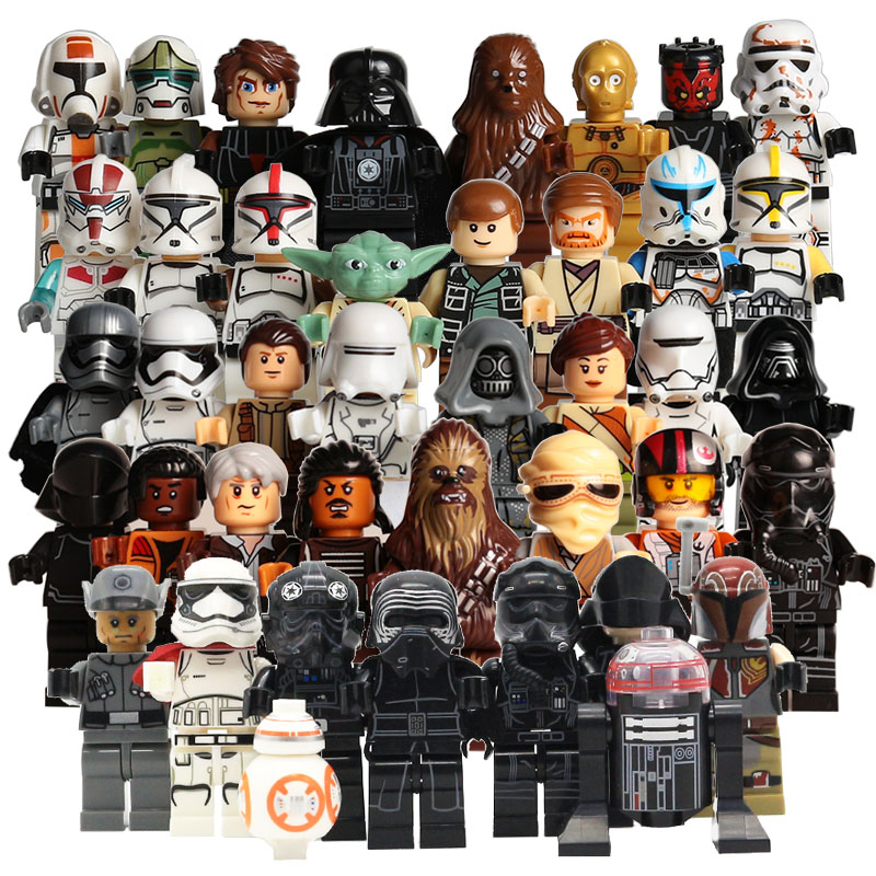 Star Wars The Last Jedi Yoda Obi-Wan Darth Vader Storm Trooper Building Block Compatible with LegoINGlys Starwars Action Figure светильник светодиодный 3dlightfx star wars yoda face 3d