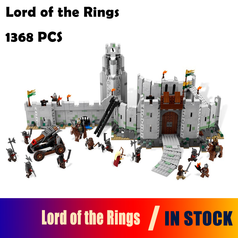 Model Building Blocks toys 16013 1368Pcs The Lord of the Rings Series The Battle Of Helm' Deep compatible with lego 9474 16013 castle knights the lord of the rings series the battle of helm deep model building blocks bricks toys for kids 9474 lepin