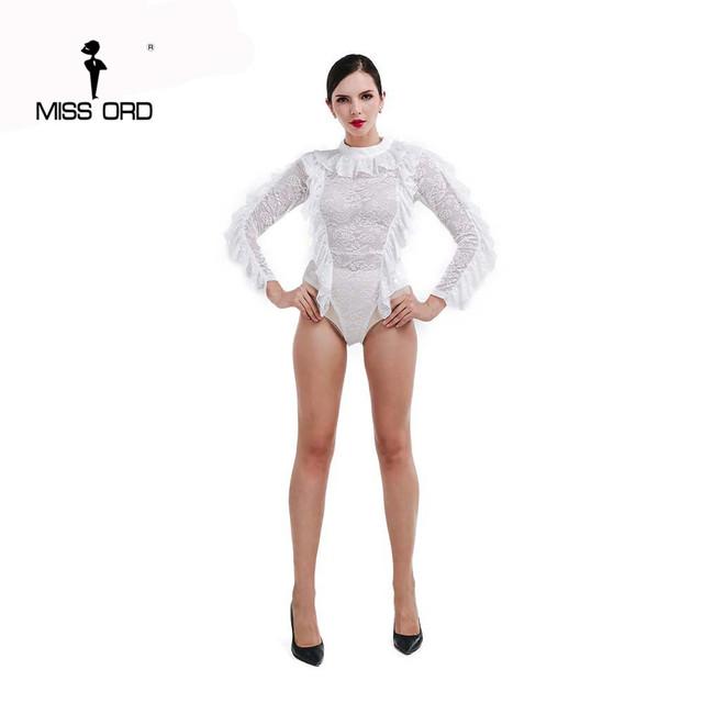 FT4721 Missord 2015 Sexy O-pescoço manga longa com zíper bodysuit