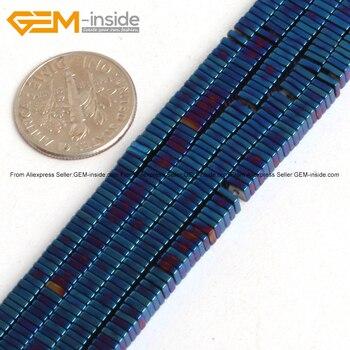 a646cd58386f Nuevas cuentas espaciadoras de hematita de 10x10mm forma de cilindro  redondo cuentas de piedra ...
