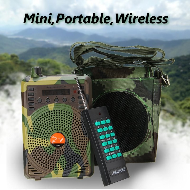 outdoor Camouflage 48W Hunting Decoys Loud Speaker Bird Caller Predator Sound Caller MP3 Player with Remote Control Voice Traps electronics hunting mp3 bird caller sound player with remote control hunting decoy speaker remote control 100 200m