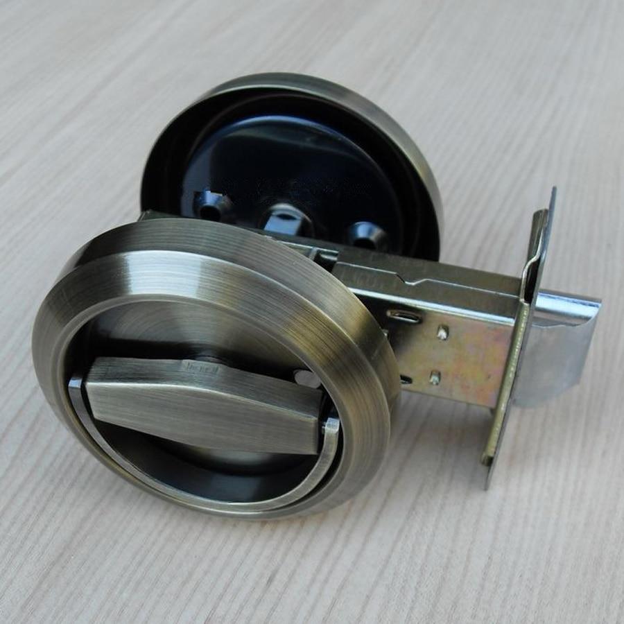 304 stainless steel bronze recessed cup handle privacy sliding door locks antique brass doors lock