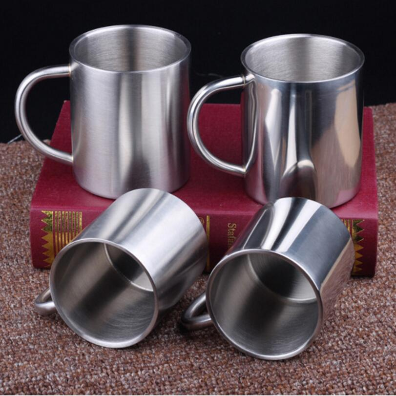 1pc Stainless Steel Coffee Mugs Cuccino Cups Tea Cup Double Wall Food Grade Durable Safe Kids Water 00318 In From Home Garden On