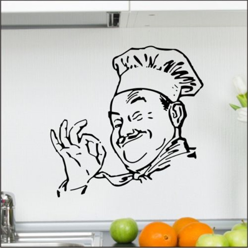 Chef Kitchen Appetit Cafe Wall Sticker Cooking Dining Room Graphic Vinyl Art Kitchen Decor
