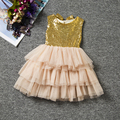 Lantejoulas Tops Da Criança do bebê Vestido Da Menina de Verão Crianças Vestido do baile de Finalistas vestidos de Festa Para Meninas Roupas Princesa Tutu Vestido Da Menina de Roupas