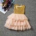 Vestido del Bebé Del Verano de Lentejuelas Tapas de Niño Niños vestidos Para Niñas Ropa de Fiesta de Baile Vestido de Princesa Tutu Vestido de Niña Ropa