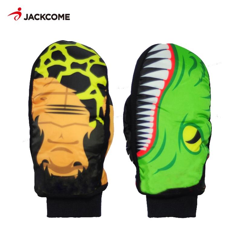 JACKCOMEWinter Spectre Men Women Ski Glove Men&women Windproof And Waterproof Skiing Snowboard Gloves Cartoon Colorful Gloves