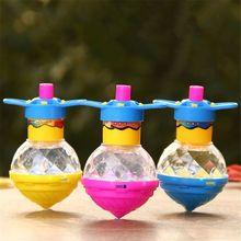 Светодиодный светильник-вспышка, волчок, пластиковый лазерный гироскоп, светильник, игрушка для детей, вечерние игрушки, подарок, случайный цвет