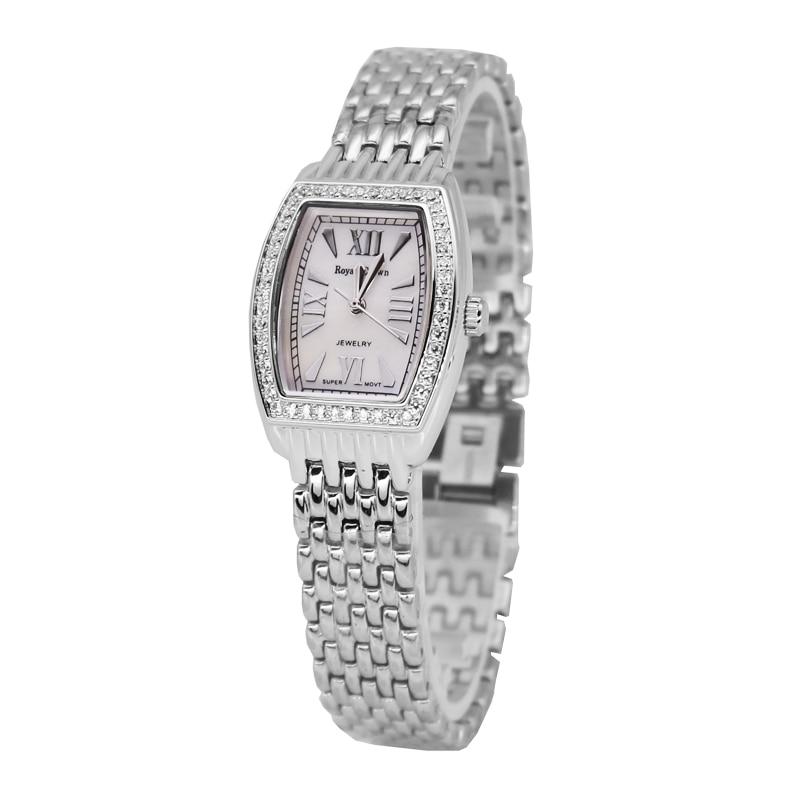 Dame montre pour femme japon Quartz mode Fine robe en acier inoxydable Bracelet de luxe horloge fille cadeau d'anniversaire couronne royale