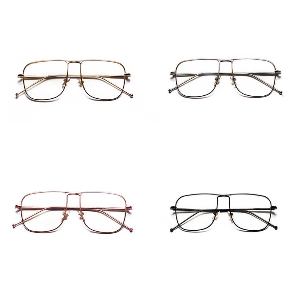 ed43a5016e2 ... Kachawoo wholesale 6pcs square eyeglasses frames men fashion rose gold  silver black metal frame glasses female