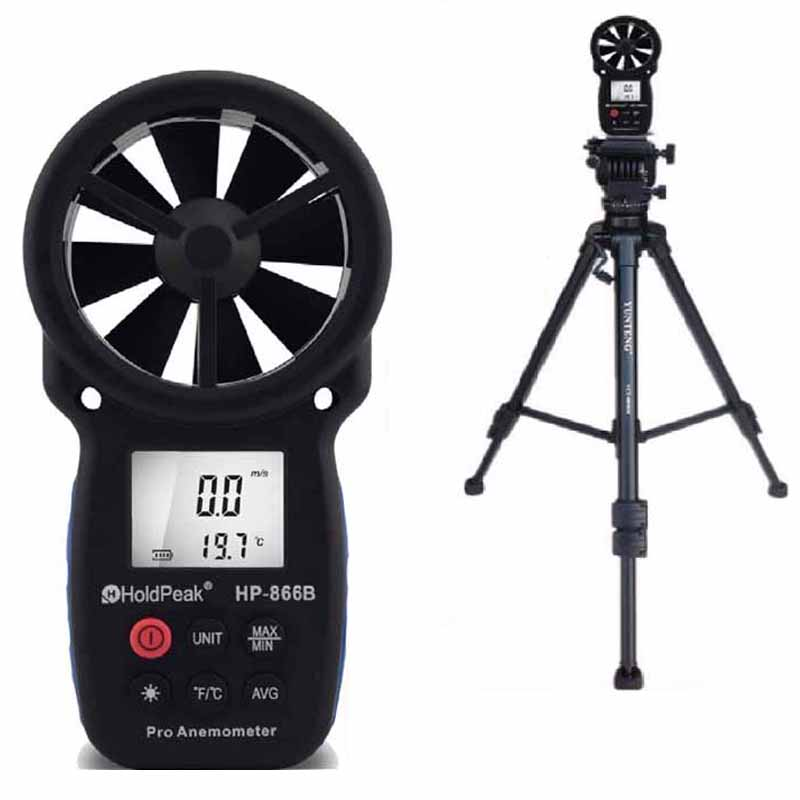 HoldPeak HP-866B Anemometer Digital Anemometer Wind Device Handheld Carry Bag Wind Speed Measuring Instruments Anemometer цены