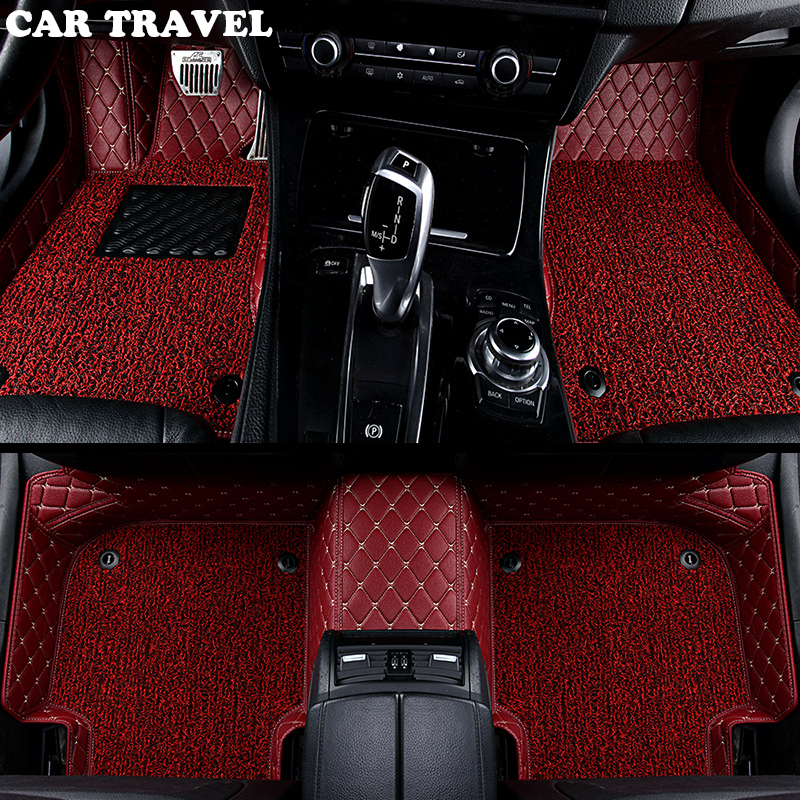Personnalisé de voiture tapis de sol pour Toyota Corolla Camry Rav4 Auris Prius Yalis Avensis Alphard 4 Coureur Hilux highlander sequoia corwn 3D