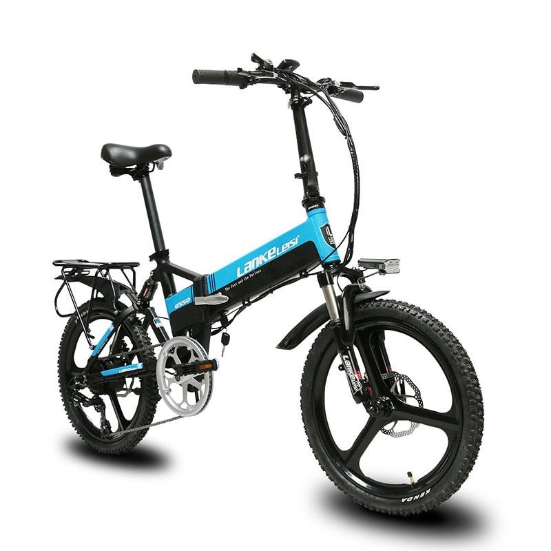 Cyrusher G550 Dobrável suspensão total bicicleta elétrica freio a disco mecânico 7 velocidades 3 faca roda da bicicleta e