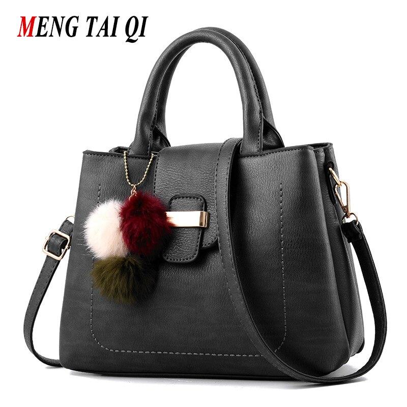 New Women Bag 2017 Fashion Messenger Bag Shoulder Bags Women Handbags Leather Black Bolsas Hand Bag Casual Style Solid Color 3