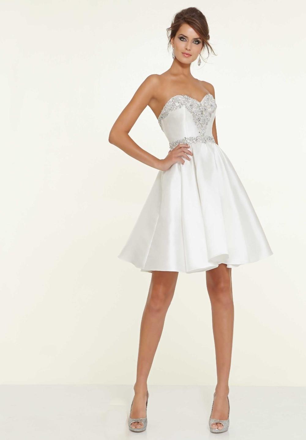 High Quality Short White Prom Dresses-Buy Cheap Short White Prom ...