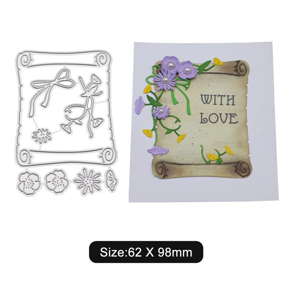 Flower background card Craft metal cutting dies cut die shape decoration Scrapbook paper craft knife blade stencils new