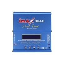 IMAX B6AC 80W 6A Lipo NiMh Li ion ni cd AC/DC RC zabawka do utrzymywania równowagi z ładowarką 10W wyładowarka do RC Car dron helikopter samolot bateria w Ładowarki od Elektronika użytkowa na