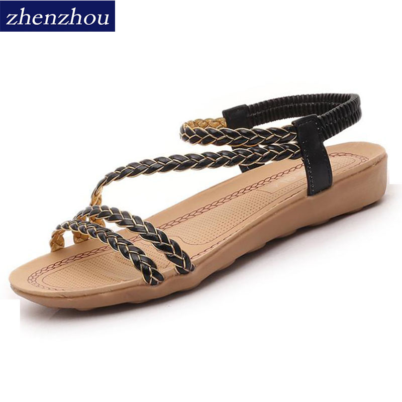 Women shoes Sandal women's new 2016 summer. Fashion fish mouth Roman shoes Woven strappy sandals for foreign trade. themost sexy fish mouth hollowed out roman sandals fashion foreign trade european and american style four colors can be selected