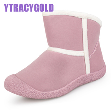 YTRACYGOLD Fashion Women Boots Plush Warm Snow Boots Ladies Winter Ankle Boots Waterproof White Colour Snow Botas