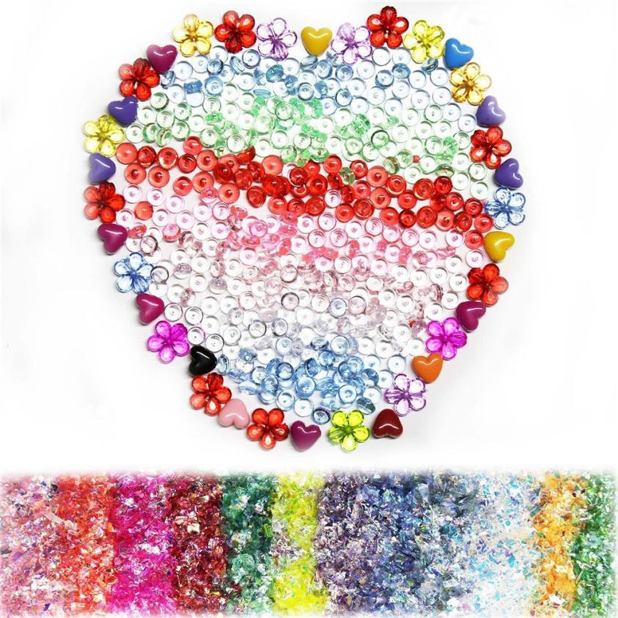 DIY Party Confetti decoration Creative Slime Supplies Kit 55 Pack Slime Beads Charms Slime Tools For DIY Slime Making decoration