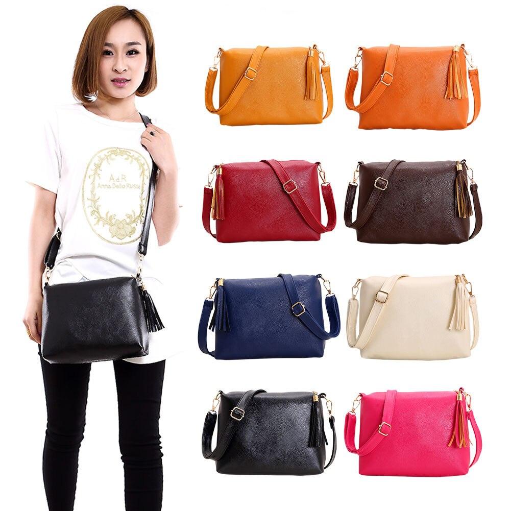 人気のハンドバッグミニpu messengeバッグ小さな対角線女性ワンショルダータッセルバッグ