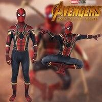 2018 New Spiderman Costume Kids Adult Avenger Infinity War Tom Holland Iron Spider Man Cosplay Costume zentai