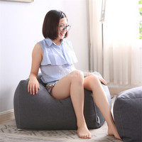 Square Super Soft Comfort Seat Bean Bag Sofa Signle Chair Cover Lounger Sofa Living Room Furniture Beanbag Lazy Lounge Chair