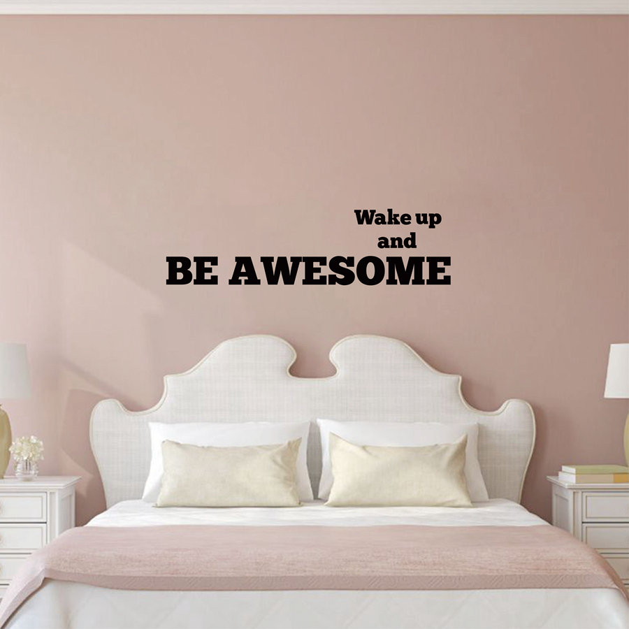 Compare prices on awesome wall stickers online shoppingbuy low inspirational bedroom wall stickers wake up and be awesome nursery kids room bedroom amipublicfo Image collections