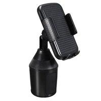 5.5-10 cm suporte de Copo Do Carro Titular Do Telefone Móvel Universal 360 Suporte Ajustável Monte Clipe Telefone GPS Portátil Preto Para iPhone Para Samsung