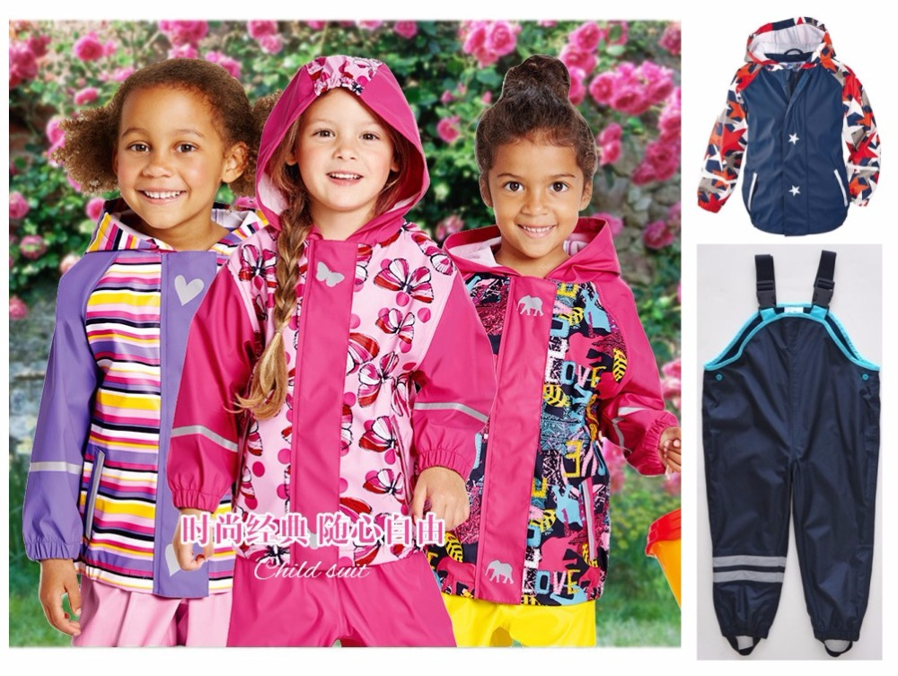 Boys Girls Children's Set Waterproof Windproof Breathable Outdoor Jackets & Straps Pants Windproof Waterproof Pants