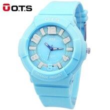 OTS Fashion Candy Students Waterproof Child Watchs Kids Watch Famous Brand Luxury Women Sport Wrist Quartz Watch for Girls Boy