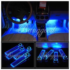 4 led car interior dash floor foot decoration light lamp car cigarette lighter in rv parts. Black Bedroom Furniture Sets. Home Design Ideas