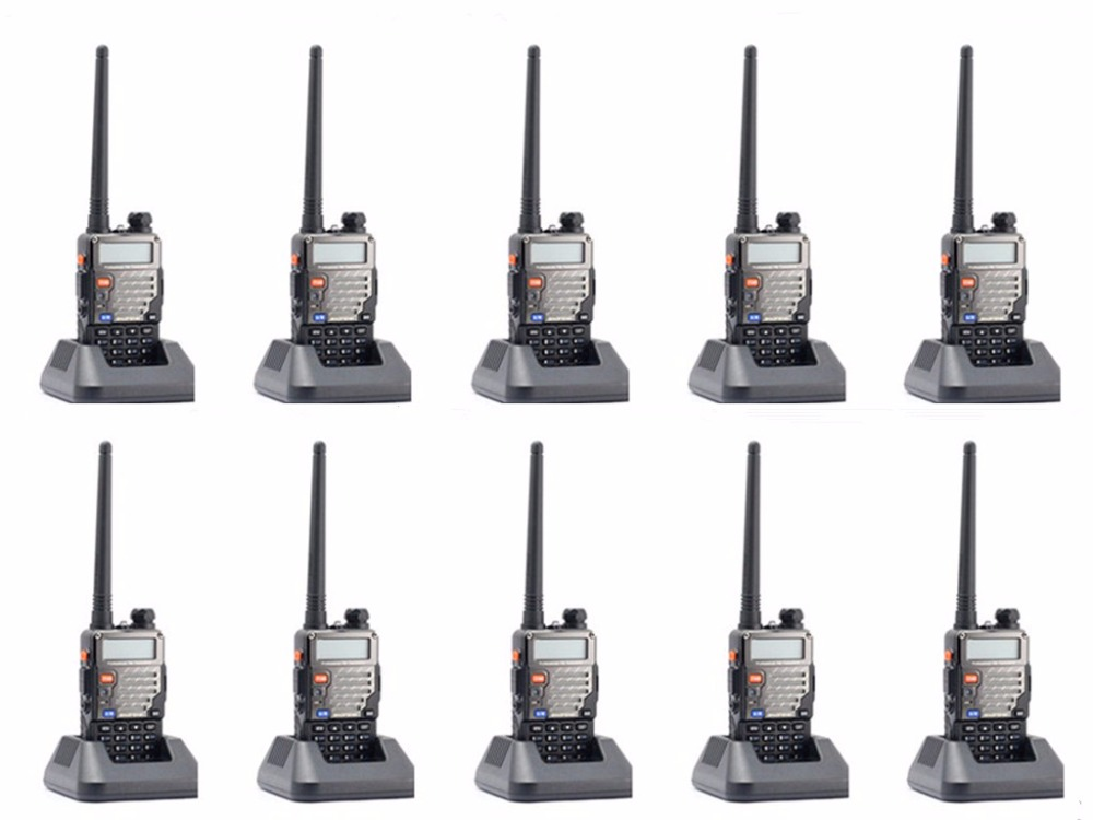 10 pcs Baofeng UV 5R Plus 2 Way Walkie Talkie Ham Dual Band VHF UHF FM