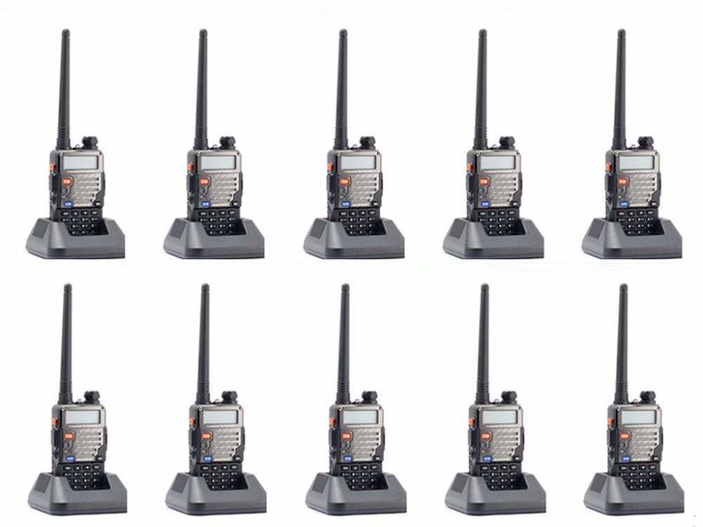 10 pcs Baofeng UV 5R Plus 2 Way Walkie Talkie Ham Dual Band VHF UHF FM