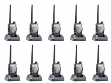 10 pcs Baofeng UV-5R Plus 2 Way Walkie Talkie Ham Dual Band VHF/UHF FM VOX Dual-Display Radio Communicator Handheld Transceiver