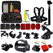 лучшая цена 30 In 1 Professional Accessories Set Bundle Bag for Gopro HD Hero 7/6/5/4/3/3+/2/1 Sports Camera
