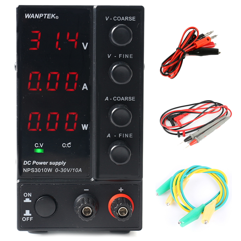 NPS306W/605W/3010W/1203W Mini Switching Regulated Adjustable DC Power Supply power display 30V/60V/120V 6A/10A 0.1V/0.01A/0.01W-in Switching Power Supply from Home Improvement