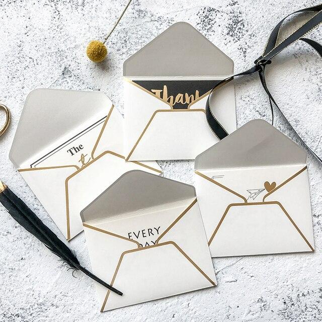 6pcsset bronze envelope greeting card business gift presentation 6pcsset bronze envelope greeting card business gift presentation simple creative christmas new year valentine m4hsunfo