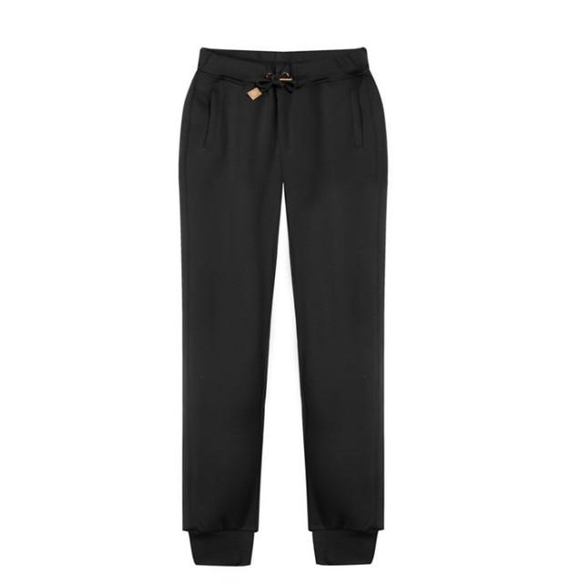 Pantalones de Hip Hop Cordón Cordón Elástico Cuff Biker Pantalones Joggers Pantalones Solid para Hombre
