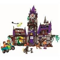 Scooby doo mistério mansão blocos de construção scoobydoo shaggy velma vampiro 3d crianças brinquedos presentes compatíveis com legoe
