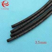 Tubo Retráctil de calor Negro Tubo Retráctil de Calor Tubo de Diámetro 3.5mm Wire Wrap Elementos Materiales de Aislamiento Termo Chaqueta 1 metros/lote