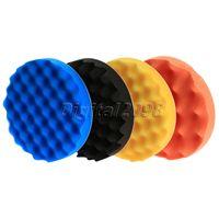 4pcs Set 180mm Soft Wave Foam Pad Polishing Buffer Set Waffle Sponge Buffing Pad For Car