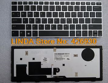 Laptop Keyboard For HP for ELITEBOOK REVOLVE 810 series black with sliver frame and backlit SP SN8123BL SG-57700-2EA matrix 57322