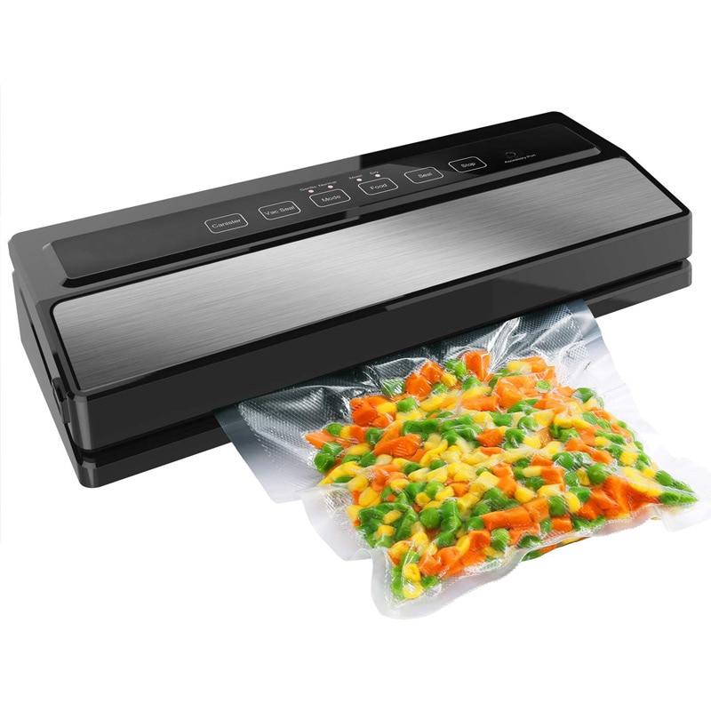 Alimentaire emballage sous vide machine de cachetage et d'emballage Y Compris 5 pièces Sacs et 1 pièces sac d'aspirateur Emballage Rouleaux 20 cm X 200 cm 220 V 110 W